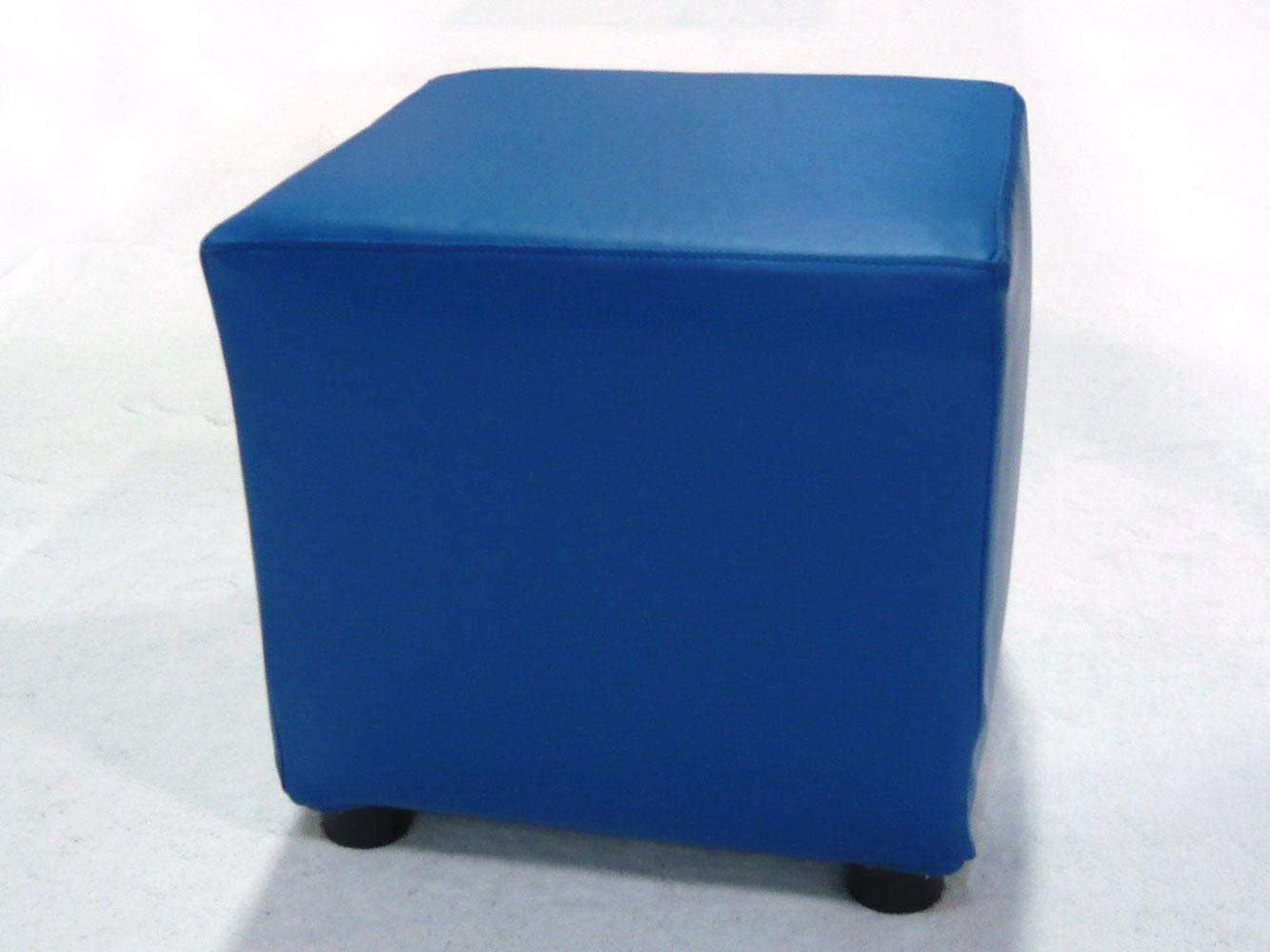 Blue cube ottomans