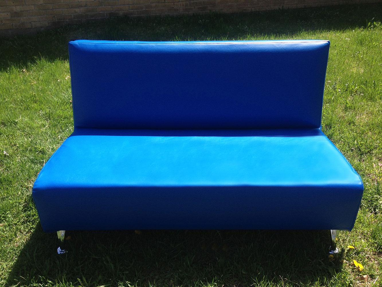 Blue Contemporary love seat