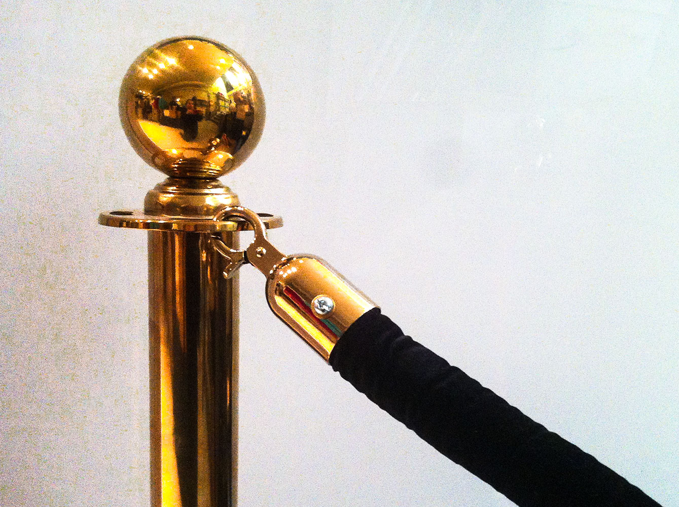 Brass Stanchions with Black Velvet Rope