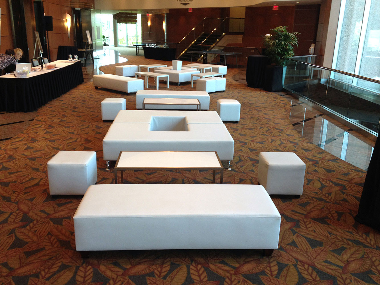 C ottoman cube bench coffee table