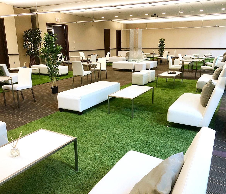 Grass carpet or astroturf carpet