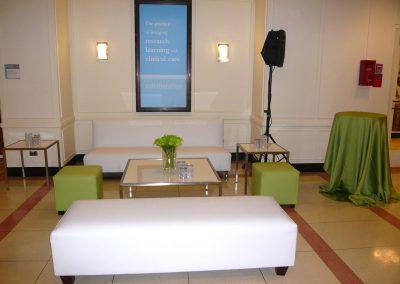 Green cube ottoman bench coffee table sofa