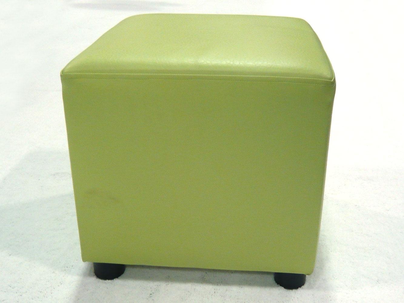 Green cube ottomans