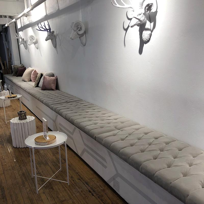 custom bench ottoman