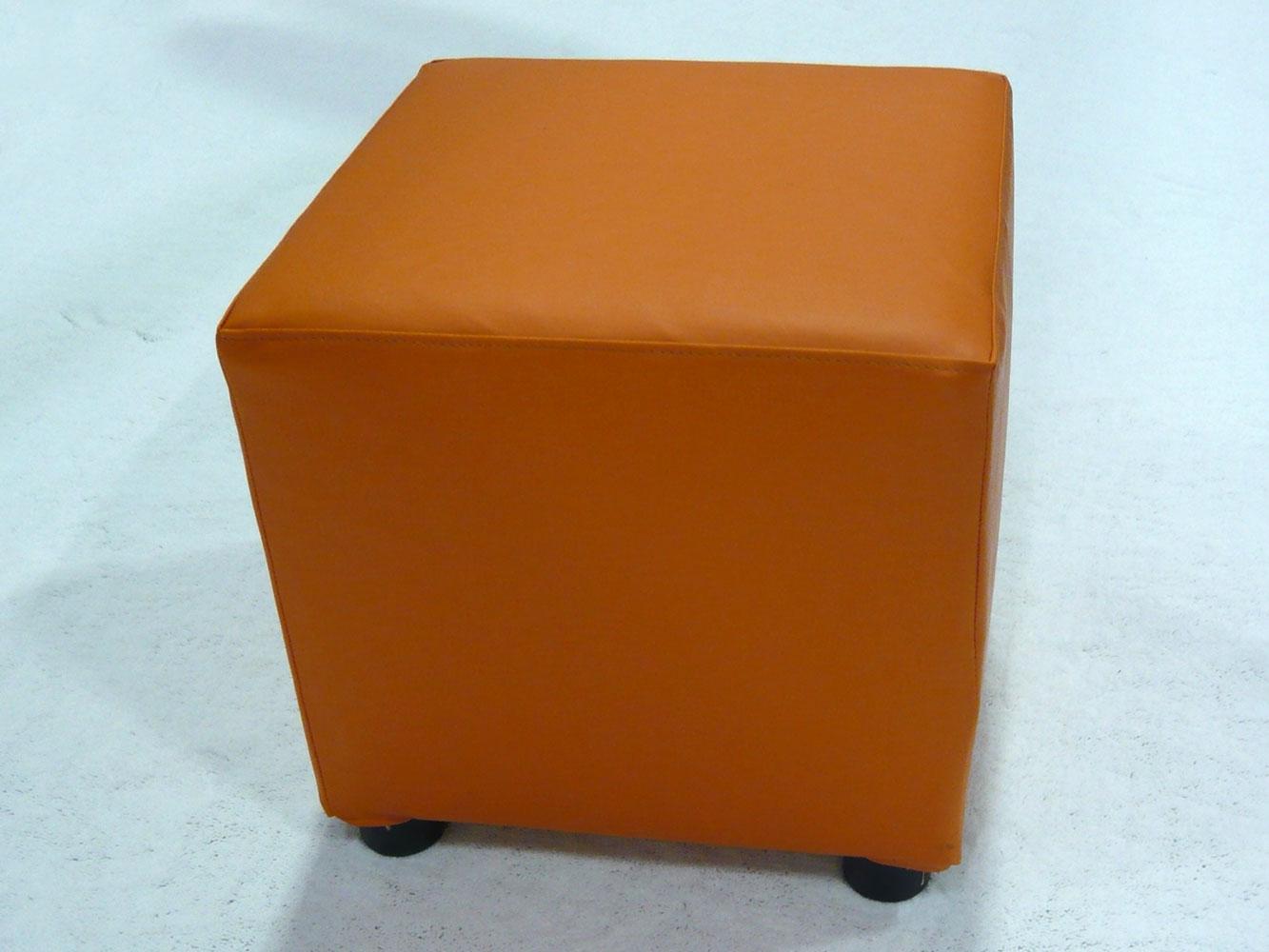 Orange cube ottomans