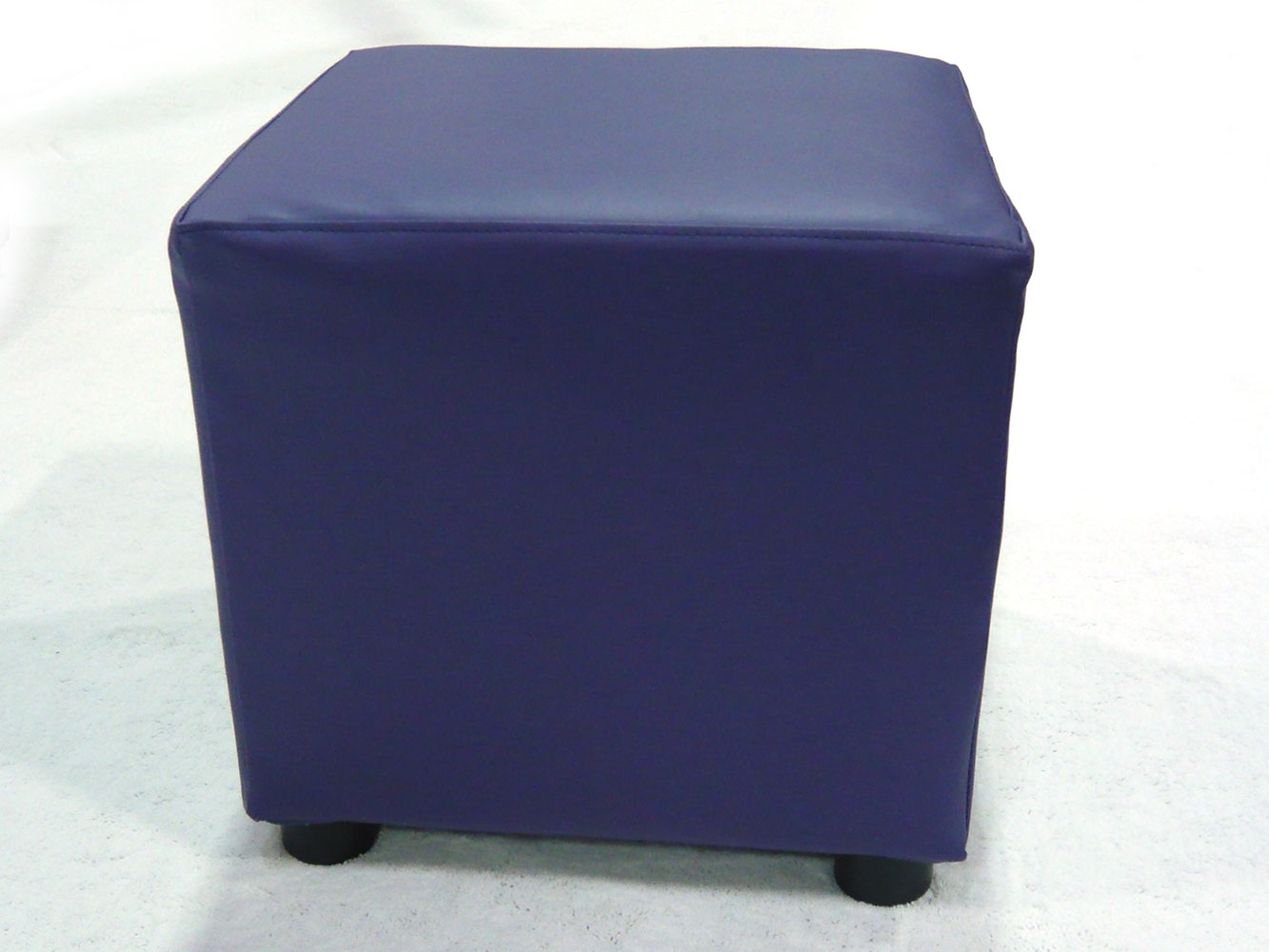 Purple cube ottomans