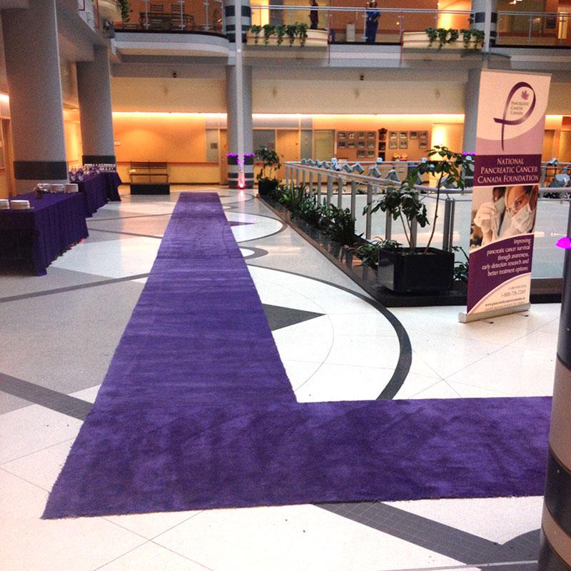 Purple runner carpet