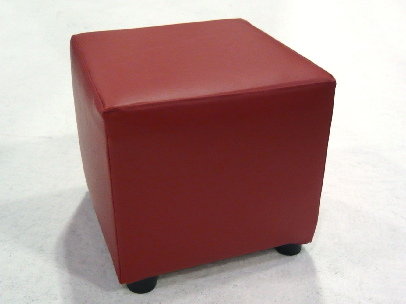 Red cube ottomans