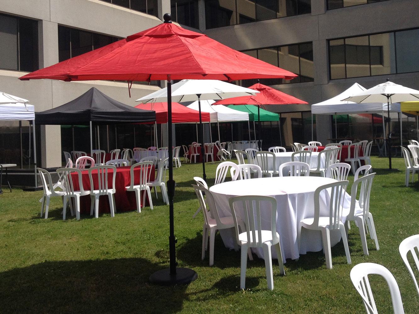 Sitra Maria Patio umbrella red