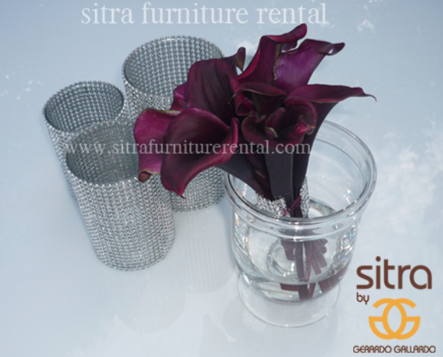 Sparkly Vases - Silver