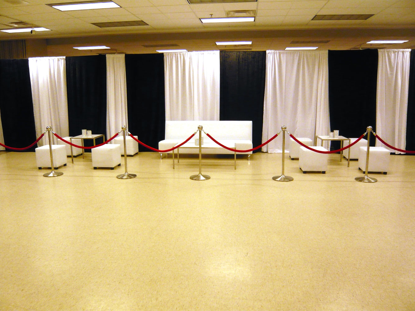 White and Black drapes cotton