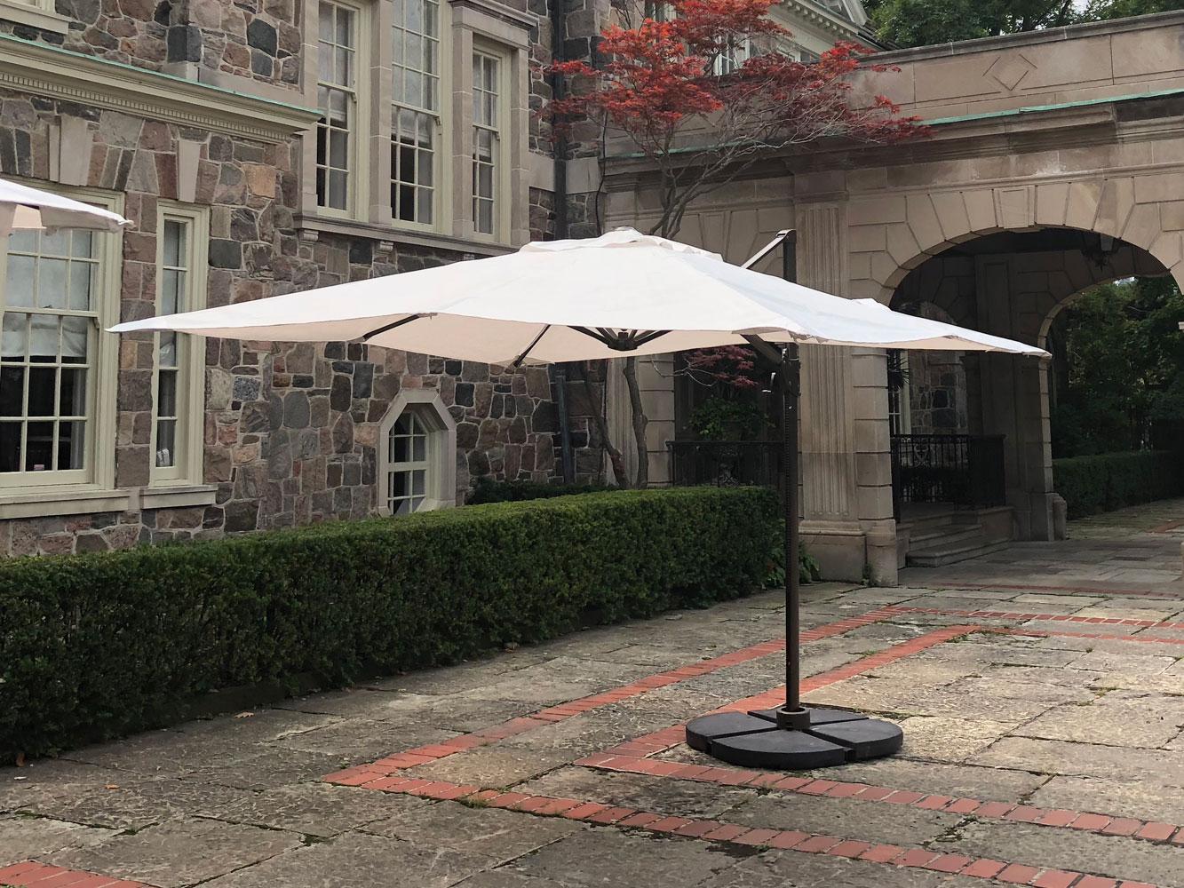 White Maria cantilever patio umbrella