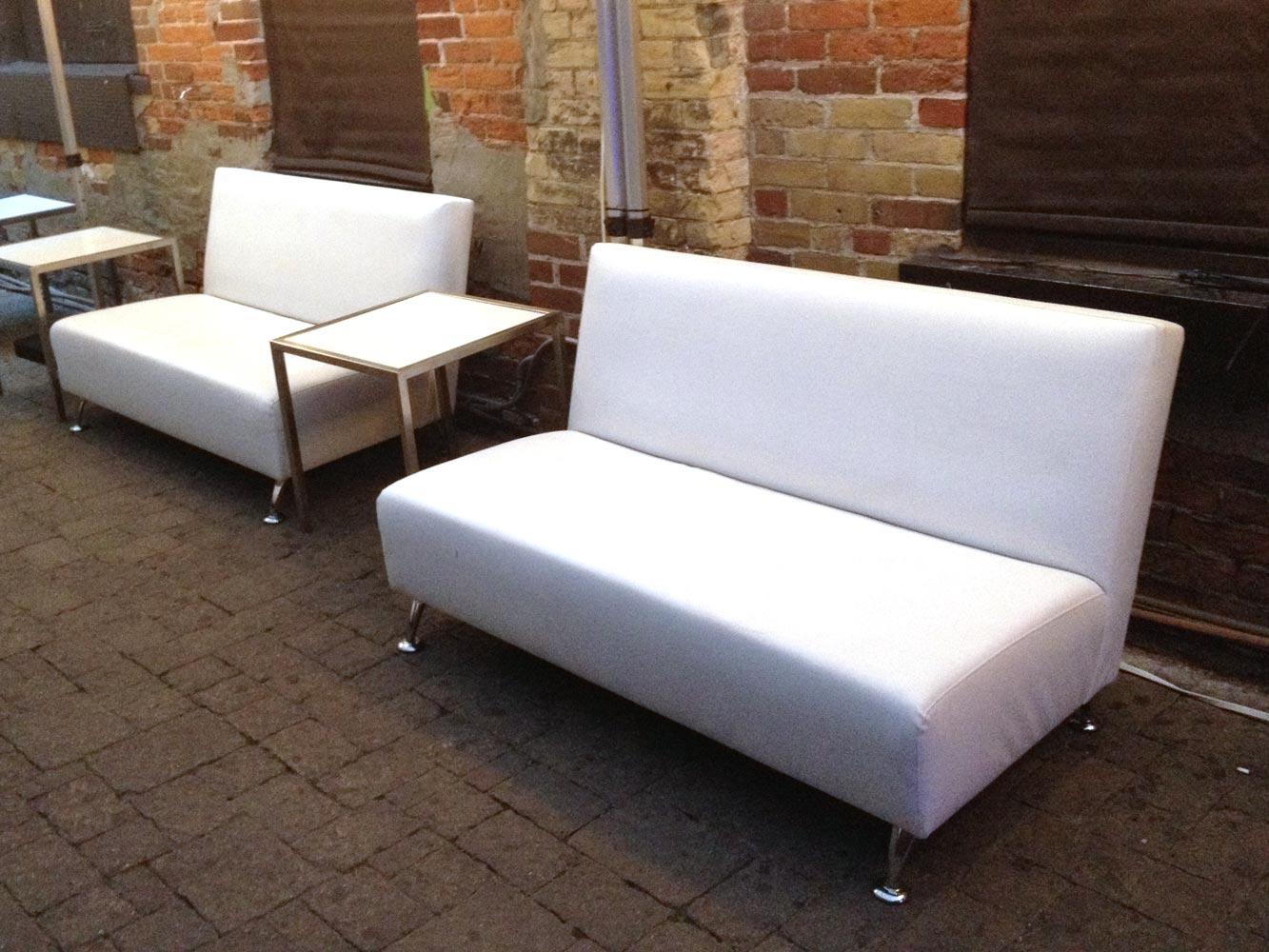 White Contemporary Love seat