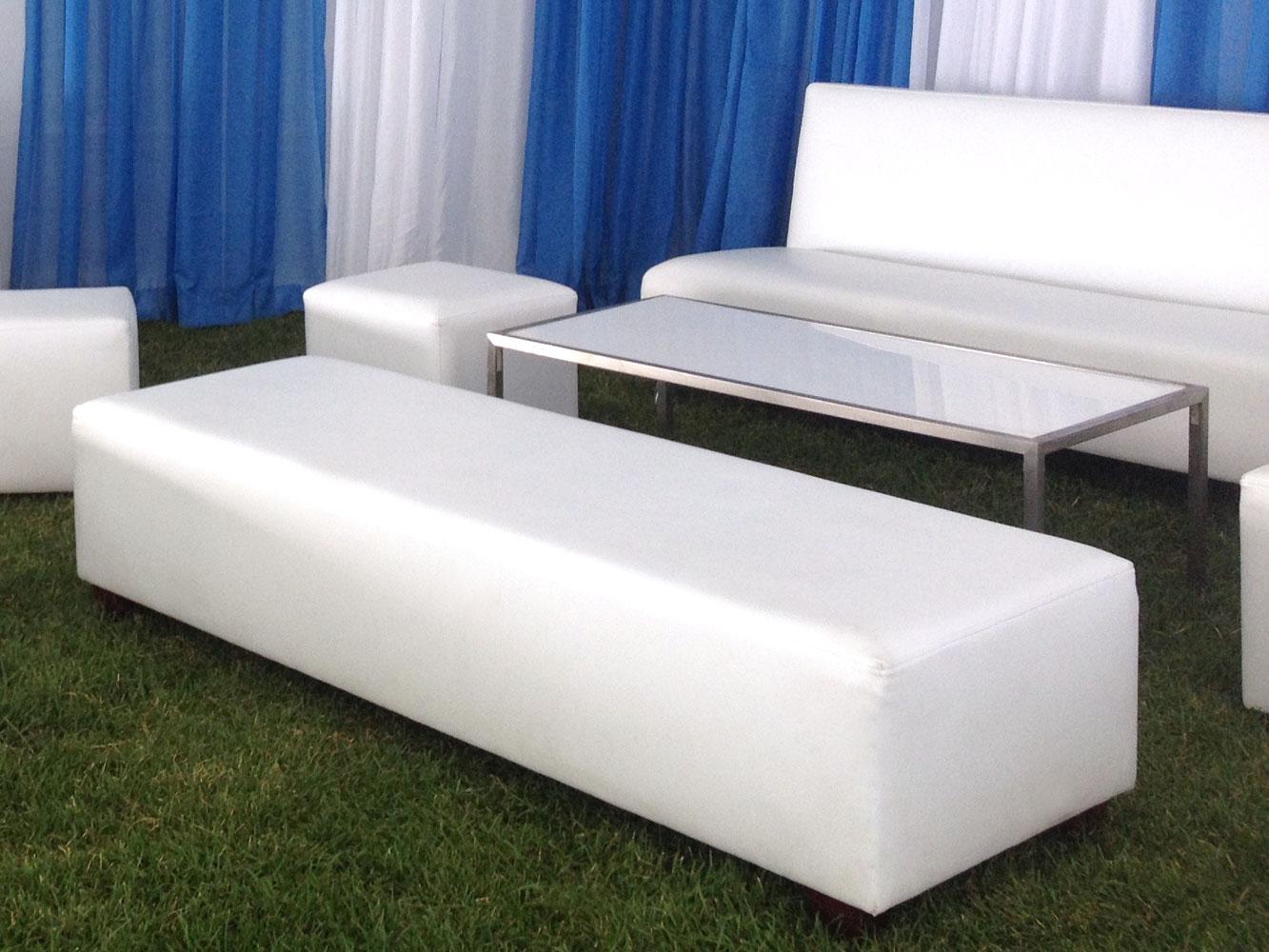 White Maria bench ottomans