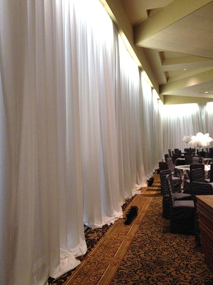 White drapes