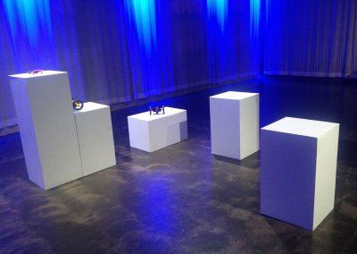 Wood white pedestals