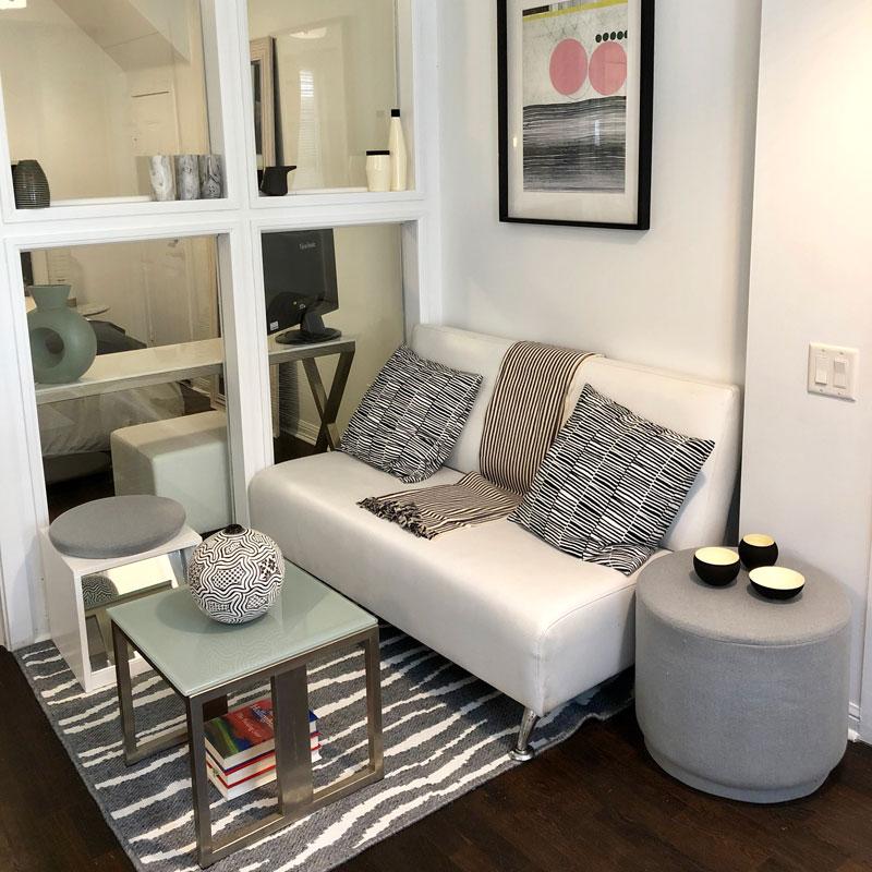 L ottoman side table sofa
